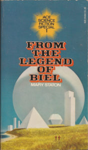 book cover with geometric buildings