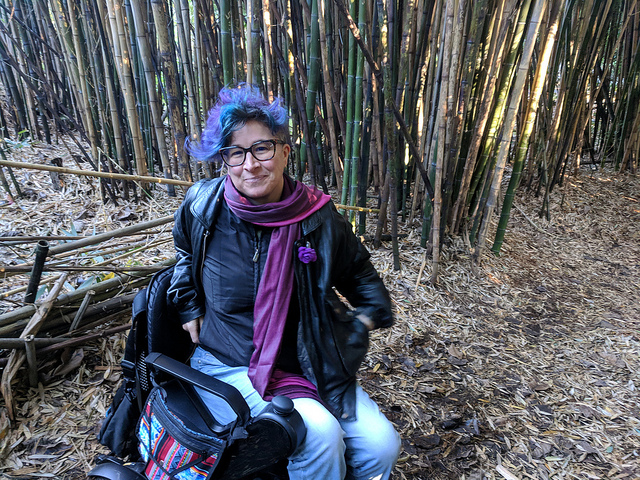 liz in bamboo grove