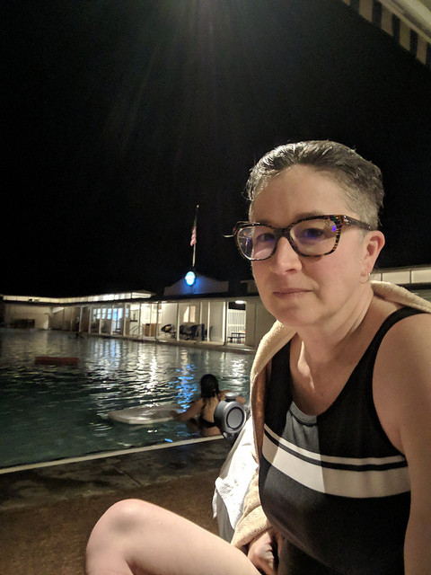 liz in bathing suit