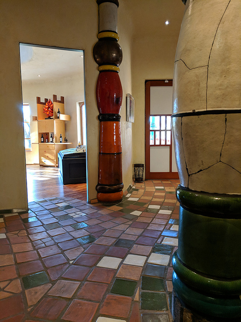 hall and column of winery