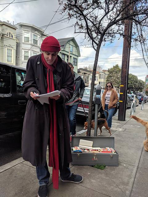 sidewalk poetry reading