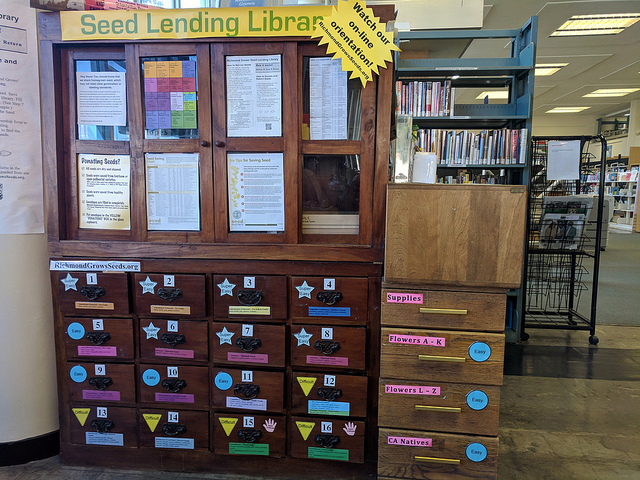 seed library drawers